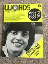WORDS RECORD SONG BOOK of 28 Hits. 1972 Donny Osmond David Cassidy