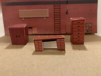 O Scale Industrial Shop Building Interior Detail Model Train Scenery Sheets