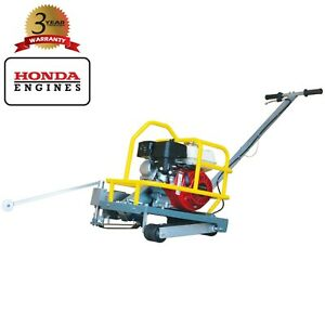 "Green Concrete Saw 6"" Early Entry Soff Cut Walk Behind Honda 3.5HP Cement Cutter"