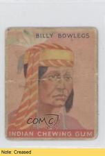 1933 Goudey Indian Gum R73 Series of 96 #44 Billy Bowlegs READ Card 0k5