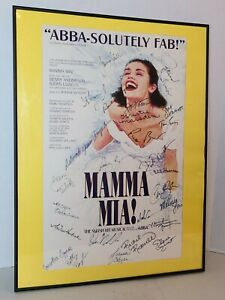 MAMMA MIA CAST SIGNED POSTER / LOBBY CARD SIGNATURES, BROADWAY MUSICAL THEATRE