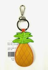 Barneys Keychain Leather Pineapple Bag Charm Key Chain FOB (Yellow)