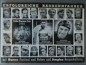 Radfahrer Karte von 1951 Erfolgreiche Rad Rennfahrer Werke  Rabeneick