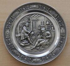 Pewter German Plate Plaque Der Silberschmied 1989 Limited Edition