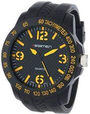 NEW Regimen 37RW101101A Men's Analog Display Yellow/Black Silicone Watch RW1011