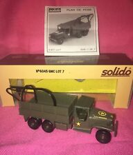 SOLIDO GMC Lot 7 Military Wrecker/Crane/Recovery Truck~ No. 6045 ~ New Old Stock