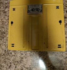 Vintage Yellow Counselor Bathroom Scale