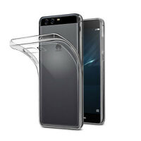 ULTRA THIN SLIM CRYSTAL CLEAR GEL CASE COVER + 2 SCREEN GUARDS FOR HUAWEI P10