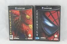 x2 jeux SPIDER MAN 1 & 2 pour Nintendo Game Cube GC (CD remis à neuf) PAL VF