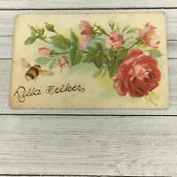 VINTAGE EMBOSSED ROSES POSTCARD POST CARD