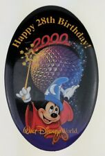 WDW Happy 28th Birthday Button 2000 Epcot Cast Member Anniversary Pin 8407 MM