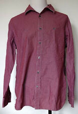 American Eagle Outfitters Vintage Fit Dark Red w/ White Stripe L/S Shirt XXL
