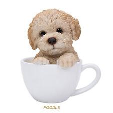 Poodle Sitting Teacup Puppy Dog Figurine