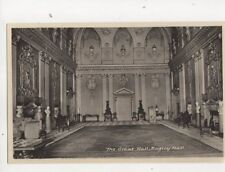 The Great Hall Ragley Hall Warwickshire Vintage Postcard 351b