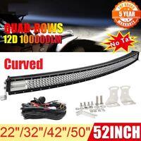"""LED Light Bar 22/32/42/50/52"""" Combo Beam Driving Work Light for ATV Offroad 4x4"""