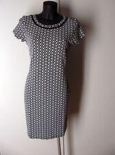 Kleid in Jacquardmuster Marke Class Größe 42 Farbe Marine / Weiß NEU