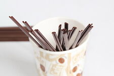 400 TEA COFFEE HOT COLD DRINK SIP STRAWS FOR DRINKING AND STIRRING BROWN ZOOM