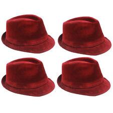 WINTER VELVET Fedora Hat Wedding Dress Formal WOMEN MEN RED TRILBY CAP