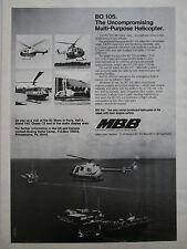5/1975 PUB MBB BO 105 POLIZEI OFFSHORE PHI PELOPS NORTH SCOTTISH HELICOPTER AD