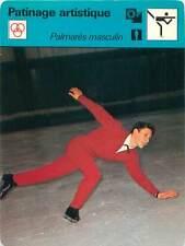 FICHE CARD: Alain Calmat France Patineur artistique Patinage artistique 1970s
