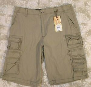 Ocean Pacific Mens Shorts Cargo Beige Tan Size 38