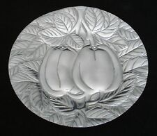 DECORATIVE MEXICAN PEWTER TRAY DISH 7 1/2 in DIAMETER MINT