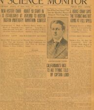 Titanic Sinks Ismay Says Titanic was not going at Full Speed April 19 1912 B21