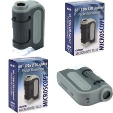 Carson Micro Brite Plus 60X-120X LED Lighted Pocket Microscope MM-300 CXX .