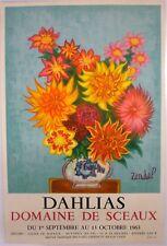 GABRIEL ZENDEL–  AFFICHE ORIGINALE D'EXPOSITION – MOURLOT - 1963