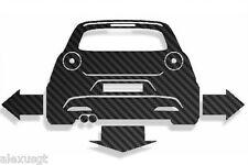 adesivo sticker alfa romeo MITO CARBON tuning down-out dub prespaziato,auto