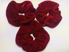 Women Girls Extra Large Soft Velvet Hair Elastic Ponies Scrunchie Pack Of 3 New
