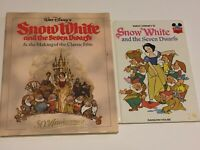 disney snow white book lot two hardcover 1987 1973 vintage
