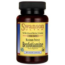 Swanson Maximum-Potency Benfotiamine 300 mg 60 Veg Caps
