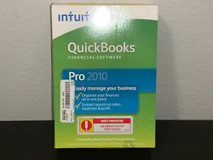 New Intuit QuickBooks Pro 2010 Full Retail Version for Windows 409607