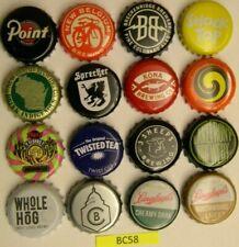 CRAFT & Vintage BEER Bottle Caps 16 Different 3 Sheeps Whole Hog Point Kona BC58