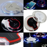 Fast Qi Wireless Charging Charger Dock Pad For Samsung Galaxy iPhone X S6 S8+S7