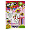 A4 Shopkins Colouring and Drawing Book with Pencils - 20 White and 30 Colour In
