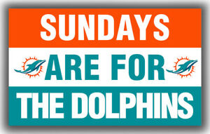 Miami Dolphins Team Sundays Are For The Dolphins Flag 90x150cm 3x5ft Banner