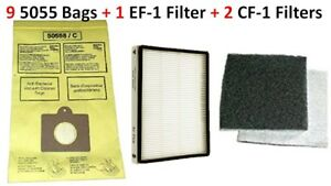 9 Bags for Kenmore Progressive Canister Vacuum Cleaner 5055 C EF1 CF1 Filter Set