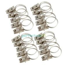 20Pcs Stainless Steel Window Shower Curtain Rod Hook Clips Rings Drapery Clips
