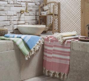 100 % Turkish Cotton Herringbone Peshtemal Authentic Beach Towel