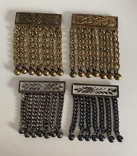 Two Pairs of Antique GK Masonic Apron Fringes/Tassels for Belt G.Kenning London