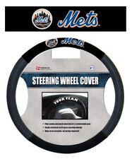 NEW YORK METS MESH SUEDE CAR AUTO STEERING WHEEL COVER MLB BASEBALL