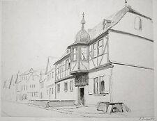 Edwin toovey (1826-1906). Disegno di paesaggio, la valle del AHR, Germania. V&A.