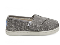 TOMS Kid's Tiny Classic Shoes Shade Oblique Woven/Faux Shearling 10012576