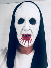 Bloody Nun Mask Scary Sister Conjuring Valak Habit Costume Accessory Halloween
