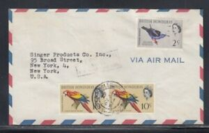 BRITISH HONDURAS Commercial Cover Belize City to New York City 27-4-1967 Cancel