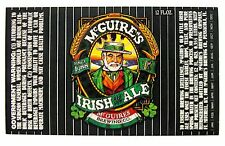 McGuire's Brew McGUIRE'S IRISH Old Style ALE beer label FL 12oz  Black label