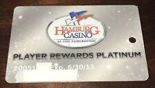 HAMBURG CASINO FAIRGROUNDS PLAYER REWARDS PLATINUM SLOT CARD HORSE RACE TRACK