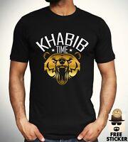Khabib Nurmagomedov T shirt MMA Mixed Martial Arts Gym Boxing Training Top Mens